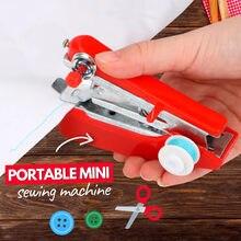 Mini Machine à coudre Portable opération manuelle créative Simple outils de couture voyage à la maison petite broderie Machine à coudre fournitures