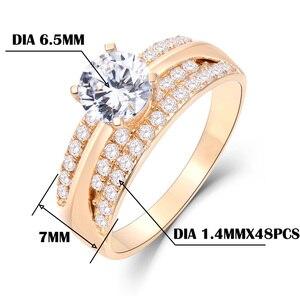 Image 5 - Kuololit 10K 14K or jaune 100% naturel Moissanite pierres précieuses anneaux pour les femmes à la main anneaux de fiançailles mariée cadeau beaux bijoux