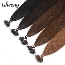 """Isheeny 1"""" 18"""" 2"""" Человеческие волосы Remy с микро-бусинами для наращивания в европейском стиле, 9 цветов, черный, коричневый, блонд, пианино, нано-кольцо, волосы, 50 шт"""