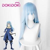 DokiDoki Anime Cosplay Wig That Time I Got Reincarnated as a Slime Rimuru Tempest Hair Women Long Blue Hair Anime Cosplay Wig