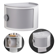 No Drilling Storage Box Waterproof Heavy Duty Wall Mounted Space Saving Cosmetics Tissue Holder Bath