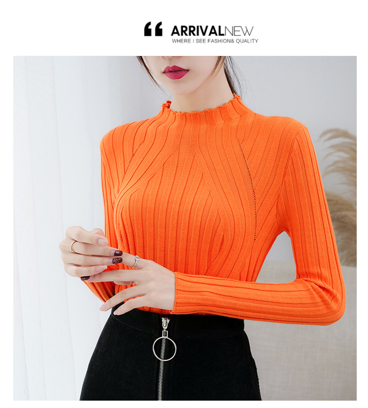 Sweaters fashion 19 women sweaters ladies winter clothes women knit solid black long sleeve tops sueter mujer Pullovers 0364 21