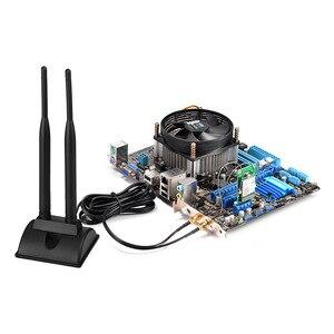 Image 4 - Superbat 6DBi Omni Directional Dual Antenna RP SMA Plug(Female Pin) Connector for Indoor WiFi Wireless Range Signal