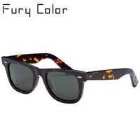 Lente de vidro óculos de sol óculos masculino de armação de Acetato de mulheres de luxo da marca homens UV400 óculos de sol oculos de sol feminino 2140