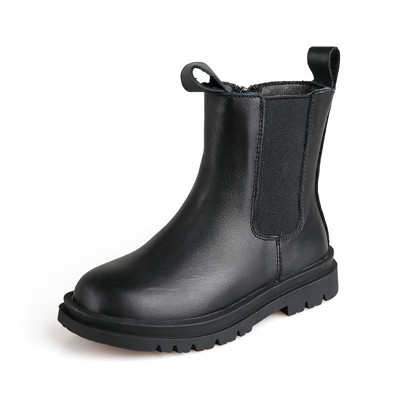 Fashion Children Kids Baby Girls Martin Boots Shoes Black White Leather Winter Autumn Warm Short Boots Casual Shoes Booties(China)