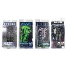 4 estilo neca avp xenomorph guerreiro série alienígena vs predador visão térmica albino zangão pvc figura de ação coleção modelo brinquedo