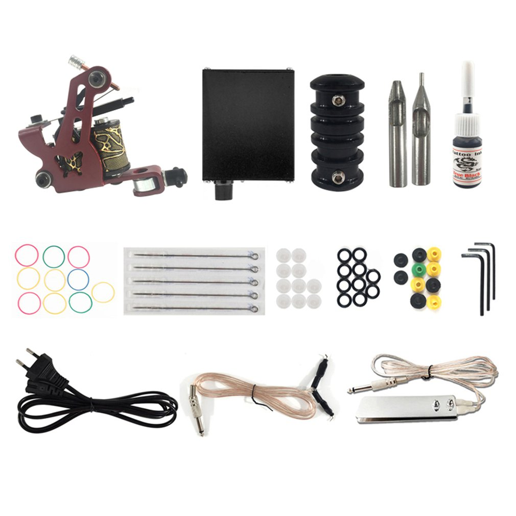 Tattoo Kit Professional Inkstar 2 Machine MAKER Set GUN 20 Ink Gun Kits Supply Needle Grips Tips Tatto Accessories