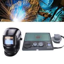 DIN9-DIN13 цифровой ЖК-дисплей Экран Солнечная Авто Затемнение Электрический сварочный шлем маска сварщик Кепки очки UV для объектива IR фильтр ш...