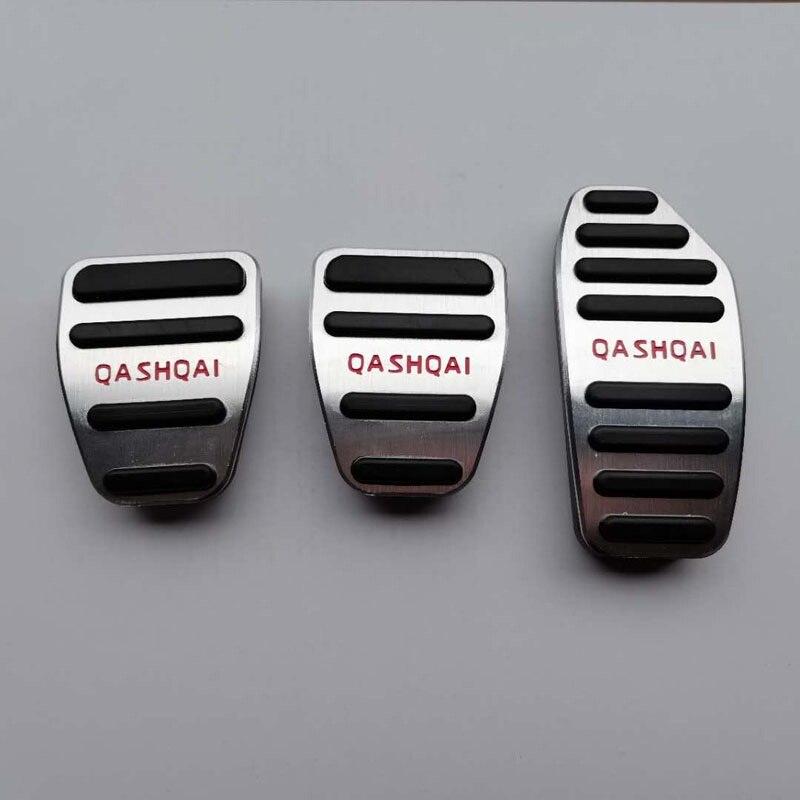 Алюминиевая колодка Газа для Nissan Qashqai J11 MT, протекторы для педалей акселератора, аксессуар для стайлинга салона автомобиля от 2016 до 2019