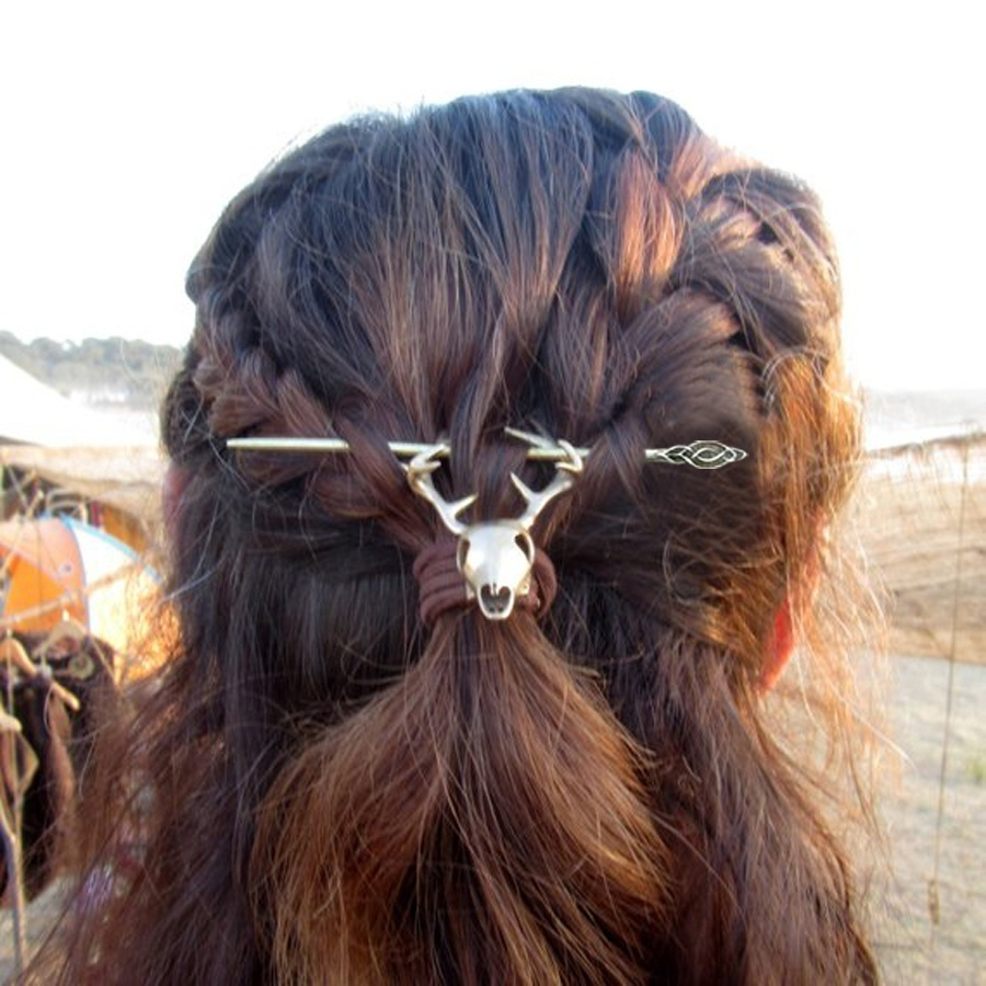 Wiccan Celtics Knots Viking Women Hairpin Hair Sticks Clips Accessories Jewelry Cletics Hair Stick Knotwork Hairpin Hair Jewelry