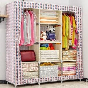 Image 3 - Armario de tela COSTWAY para ropa tela plegable armario portátil armario de almacenamiento dormitorio muebles para el hogar armario ropero muebles