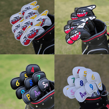 Golf Iron cover 9Pcs Set PU Leather Waterproof No.4/5/6/7/8/9/P/S/A