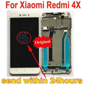 Image 1 - Стеклянный сенсорный ЖК дисплей MAE136, оригинальный сенсорный экран с дигитайзером в сборе и рамкой, запчасти для Xiaomi Redmi 4X
