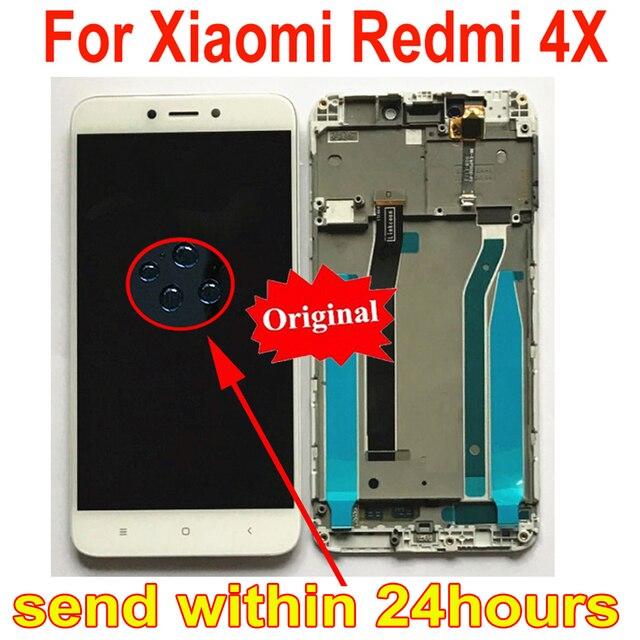 Стеклянный сенсорный ЖК дисплей MAE136, оригинальный сенсорный экран с дигитайзером в сборе и рамкой, запчасти для Xiaomi Redmi 4X
