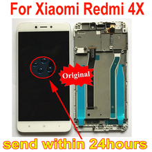 Pantalla LCD Original con Sensor de cristal, montaje de digitalizador de Pantalla de Panel táctil con marco para Xiaomi Redmi 4X Parts MAE136