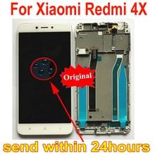 샤오미 Redmi 4X 부품 mae136에 대 한 프레임 원래 최고의 작업 유리 센서 LCD 디스플레이 터치 패널 화면 디지타이저 어셈블리