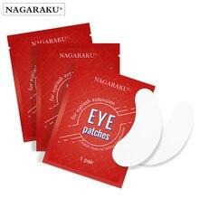 Nagaraku cílios extensão remendos para os olhos compõem almofadas para os olhos 100 pares pacote sob almofadas para os olhos sem fiapos olho gel remendos