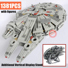 New 1381PCS Force Awakens Falcon Fit Legoings Star Wars Figures Technic Building Blocks Bricks Gift Kid Toys 79211 Xmas new movie potter great wall house fit legoings castle figures building blocks bricks model kid toys children kid gift birthday