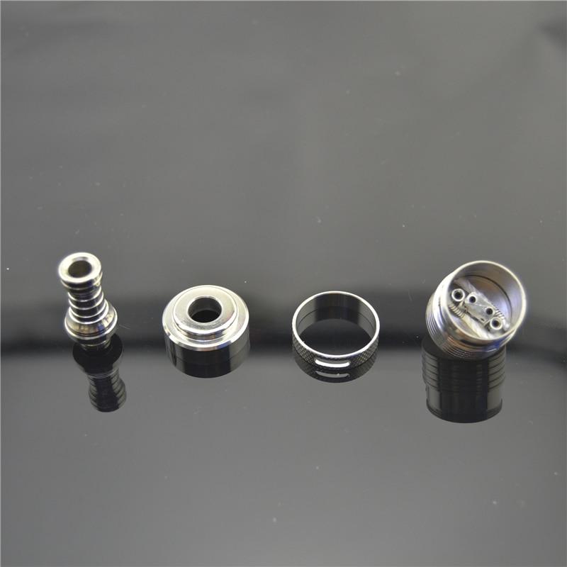 Bilstar Helios RDA 304 Stainless Steel Rebuildable Dripping Atomizer Prebuilt Coil RBA DIY Vaporizer for Vape MOD 510 thread 3