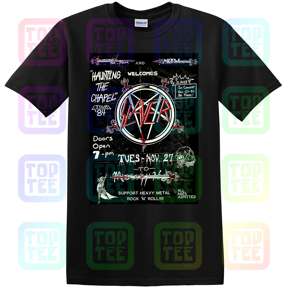 Slayer 'Haunting 84 Flier' T-Shirt - NEW & OFFICIAL!