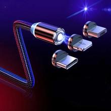 Carregador magnético micro usb tipo c cabo para iphone samsung xiaomi redmi android telefone móvel de carregamento rápido ímã cabo
