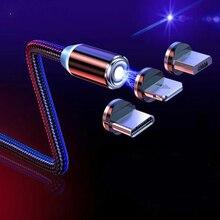 Магнитный кабель Micro USB Type C для iPhone, Samsung, Xiaomi, Redmi, Android, мобильный телефон, быстрая зарядка, магнитный шнур