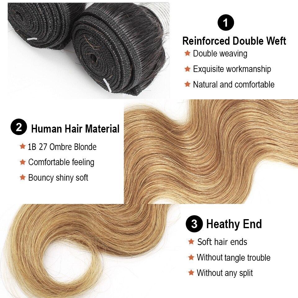 Image 5 - Волосы Mogul, 1 пучок, объемная волна, цвет 8 пепельный блонд, 1B 27, Омбре, медовый блонд, цвет 613 1B 4 27, индийские не Реми человеческие волосы для наращивания-in Пряди для вплетания from Пряди и парики для волос on AliExpress