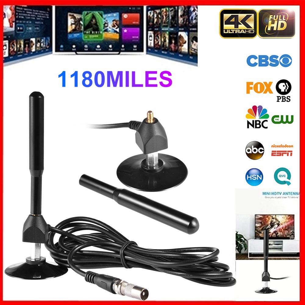 4K 28DB High Gain HD TV DTV Digital TV Antenna 1180 Miles Indoor Signal Amplifier For HDTV Antenna TV Signal Receiver TV Aerial