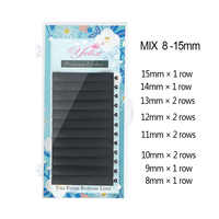 Yelix Matte 8-15mm mixed individual eyelashes Faux Mink lash extension trays faux cils one by one lashes russian volume lashes
