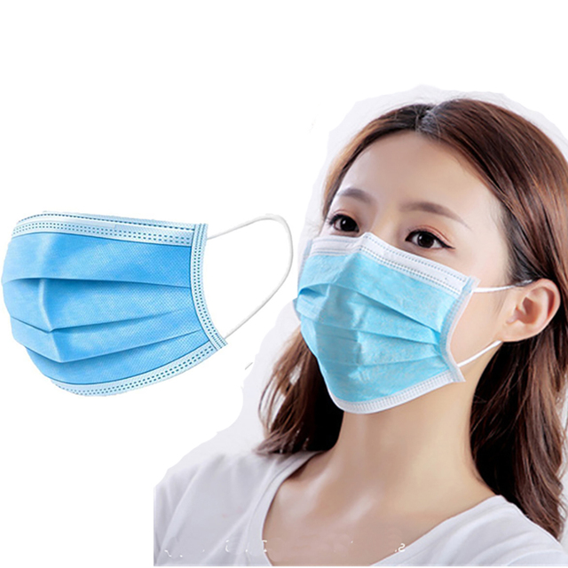 1-100pcs Disposable Mask Face Mouth Anti Dust Protect 3 Layers Filter Earloop Non Woven Dustproof Mouth Mask 1
