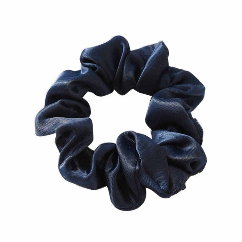 Классический дизайн, женские аксессуары для волос, Женский Галстук для волос, шелковый атлас, резинка для волос, держатель для конского хвоста, резинка для волос, эластичные резинки для волос