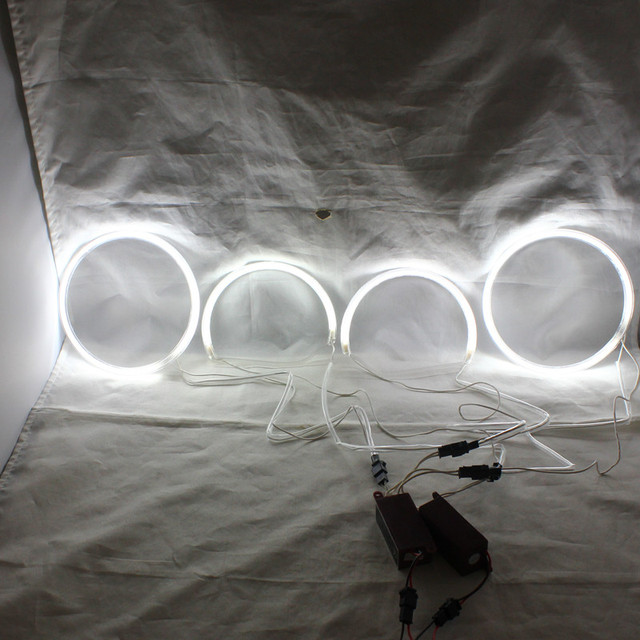 Rockeybright 1 conjunto branco carro ccfl auréola anéis anjo olhos lâmpada para lexus is200/300/toyota altezza/altezza gita (japão) 1998-2005