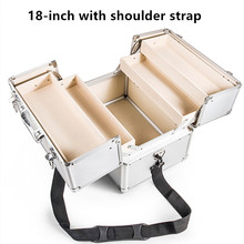 Portable double open medicine chest suitcase aluminum alloy ABS with lock 3 layer family safety protection first aid storage box