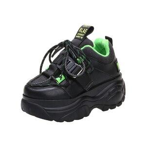 Image 3 - Женские кроссовки на платформе; Зимняя Теплая Обувь На Шнуровке; Модная повседневная обувь с высоким берцем; Женские кроссовки на толстой подошве; Deportivas Mujer