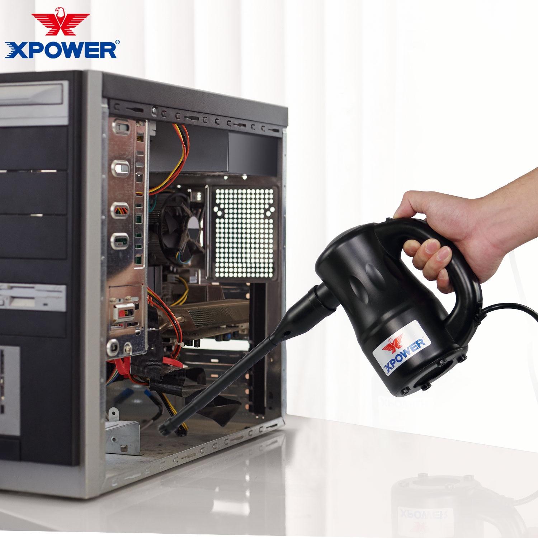 XPOWER-soplador de aire eléctrico de 550W para hogar y coche, aspirador de polvo para limpieza de ordenador, Mini secador de mascotas