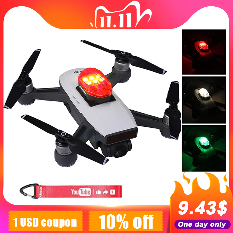 Ulanzi DR-01 Drone Light for DJI Marvic 2 Pro Night Fly Visible RGB Drone Accessories AntiCollision Strobe Lighting Rechargeable