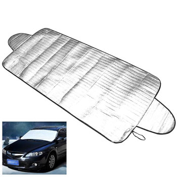 Car Windscreen Cover Dust Protector Anti Snow Ice Shield Car Windshield Shade Sun Cover Front Window Screen 70*148cm image