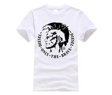 DIESEL Fashion creative pattern T-shirt Round neck short sleeve casual T-shirt Size S-XXXL все цены