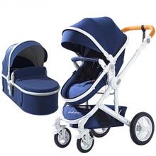 Регулируемая Роскошная детская коляска, 3 в 1, переносная, высокий пейзаж, двусторонняя коляска, Горячая мама, розовая коляска для путешествий, коляска