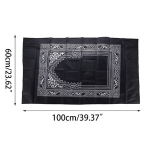 Image 5 - Alfombrilla para oración musulmana portátil a prueba de agua alfombra con brújula Vintage patrón islámico Eid decoración regalo bolsillo tamaño bolsa cremallera estilo