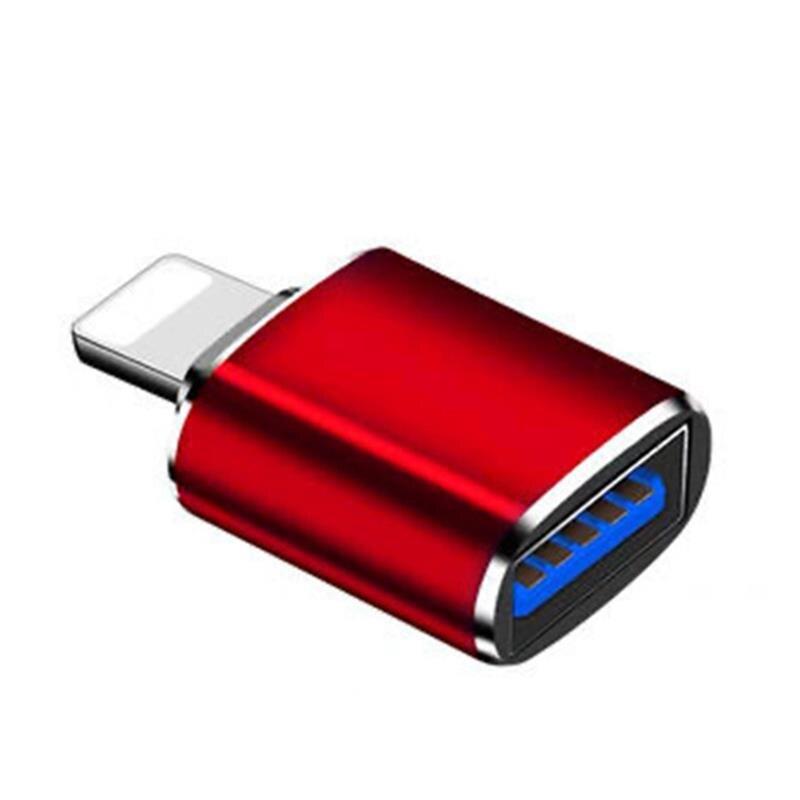 Адаптер OTG USB с подсветкой «папа» на USB 3,0 iOS 13, адаптер для зарядки для iPhone 11 Pro XS Max XR X 8 7 6s 6 Plus, адаптер для iPad