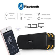 LESHP Wireless Bluetooth Speaker Waterproof Dustproof Shockproof Mini Outdoor Portable Support Variety Music Format