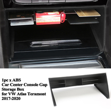 1pc גבוה באיכות רכב מרכז קונסולת אחסון תיבת כרטיס ארגונית לאחסן חנות אביזרי עבור פולקסווגן פולקסווגן אטלס Teramont 2017 2020