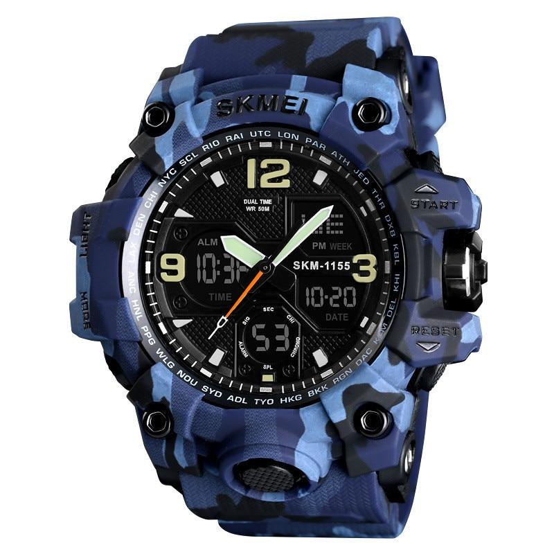 Skmei Beauty Camouflage Watch Double Display Multi-function Outdoor Sports Waterproof Men's Electronic Watch