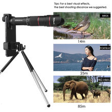 4K HD 50X Optical Zoom Camera Lens Telephoto Lens Monocular Mobile Phone Telescope for iPhone Android Smartphones Camping Hiking(China)