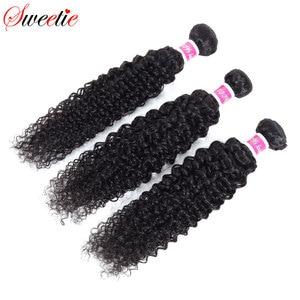 Image 4 - Tatlım Saç Brezilyalı Saç Kinky Kıvırcık % 100% insan saçı örgüsü Uzatma 3/4 ADET Remy Doğal Renk 100G olabilir boyalı ve Ağartılmış