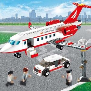 Image 5 - 334pcs GUDI Aereo Building Block giocattolo Privato Getto Daria di grandi dimensioni Modello di istruzione/technic fai da te action figures giocattoli auto per i bambini