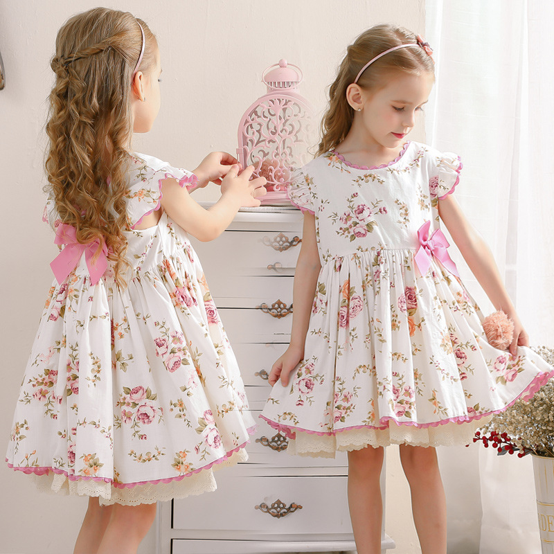 2020summer Children's Lolita Dress Spanish Palace Girl Princess Dress Kids Dresses for Girls Toddler Girl Dress Holiday Dress