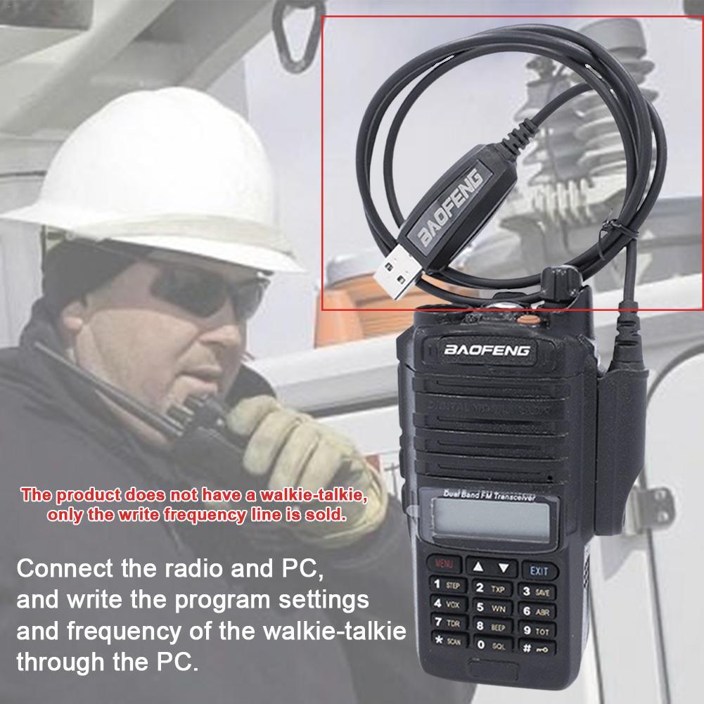 Walkie Talkie USB Programming Cable Waterproof Cord For Baofeng  8W/15W UV-9R PLUS A58 Walkie Talkie