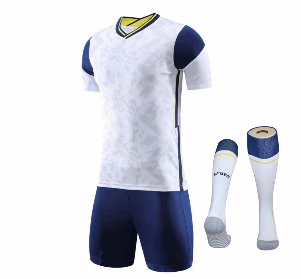 Children Sets football uniforms boys and girls sports kids youth training suits blank custom print soccer set with socks 11